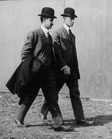 Aviation History - The Wright Brothers - Wright brothers at the Belmont Park Aviation Meet in 1910