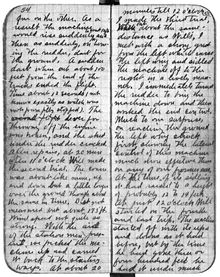 Aviation History - The Wright Brothers - Orville's notebook entry of December 17, 1903