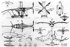 Aviation History - Cl�ment Ader - Patent drawings of Clement Ader's x�ole.