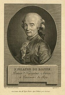 Aviation History - Jean-Francois Pilatre de Rozier - 30 March 1754(1754-03-30) Metz, France