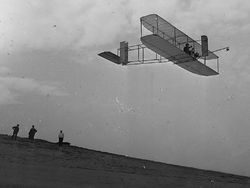 Airplane Picture - The 1911 glider over the Kill Devil Hills. Library of Congress Wright Collection.