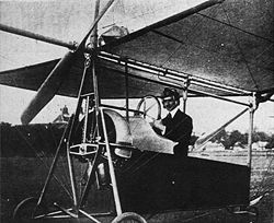 Aviation History - Aurel Vlaicu - Aurel Vlaicu at the controls of Vlaicu II airplane