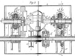 Aviation History - Arthur Constantin Krebs - Electromagnetic gearbox from Krebs's car patent of 1896