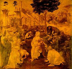 Leonardo da Vinci - The Adoration of the Magi, (1481)-Uffizi