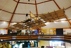 Aviation History - Richard Pearse - A replica aeroplane on display at the South Canterbury Museum in Timaru