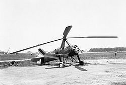 Aviation History - Juan de la Cierva - Autogiro Pitcairn PCA-2, build in the United States under license of Juan de la Cierva.