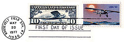 Aviation History - Scott C-10 and #1710 with May 20, 1977 First Day of Issue CDS