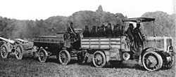 Aviation History - Arthur Constantin Krebs - The four wheel drive and four wheel steering Chatillon-Panhard military truck during the World War I