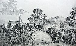 Airplane Picture - The balloon built by Jacques Charles and the Robert Brothers is attacked by terrified villagers in Gonesse.