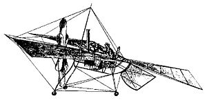 Aviation History - Felix du Temple de la Croix - F�lix du Temple's 1874 Monoplane.