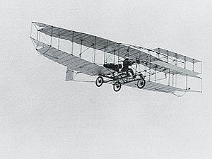 Aviation History - The AEA Silver Dart in flight.