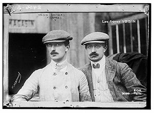 Aviation History - Gabriel Voisin - Gabriel (left) and Charles (right) in 1906