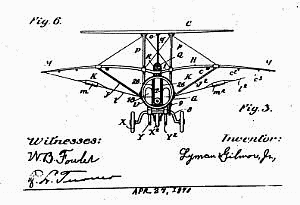 Aviation History - Lyman Gilmore - Drawing of the smaller first plane