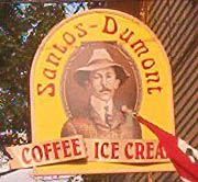 Aviation History - Alberto Santos-Dumont - Ice cream made by the Santos Dumont Coffee Company.