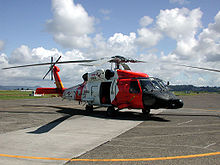 Helicopter Picture - Sikorsky HH-60J Jayhawk (USCG registration number 6008) on the tarmac at Coast Guard Air Station Astoria, Oregon
