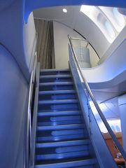 Airplane Picture - Boeing 747-8 Intercontinental upper deck staircase and skylight