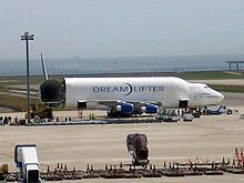 Airplane Picture - A 747 LCF Dreamlifter with its swing-tail cargo bay open