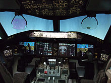 Airplane Picture - Boeing 787 flight deck