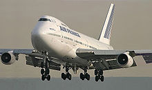 Airplane Picture - Air France 747-200M in landing configuration