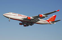 Airplane Picture - Air India 747-400 Konark, the first 747-400 to enter the Air India fleet.