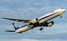 Airplane Picture - An All Nippon Airways 777-300ER taking off