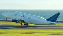 Airplane Picture - The Boeing 747 Large Cargo Freighter, also called Dreamlifter, is modified from 747-400s previously in airline use.