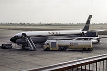 Airplane Picture - Conway-powered BOAC 707-436 at London Heathrow Airport in 1964.