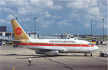 Airplane Picture - Former Lufthansa 737-100 in Continental Airlines livery