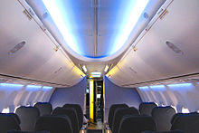 Airplane Picture - Boeing 737NG Sky Interior with pivot bins and LED lighting