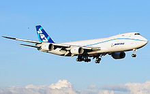 Airplane Picture - The first Boeing 747-8 freighter on its maiden flight