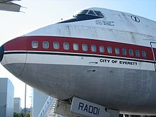 Airplane Picture - The prototype 747, City of Everett, at the Museum of Flight in Seattle, Washington