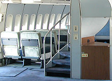 Airplane Picture - On the 747-100 and 747-200, a spiral staircase connected the main and upper decks