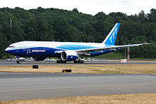 Airplane Picture - The first 777 Freighter, destined for Air France, beginning a test flight