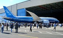 Airplane Picture - The 787 Dreamliner's first public appearance was webcast live on July 8, 2007.
