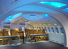 Airplane Picture - Mockup of early Dreamliner cabin concept