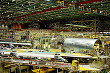 Airplane Picture - 747 final assembly at the Boeing Everett Factory