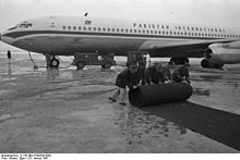 Airplane Picture - A Pakistan International Airlines Boeing 707 photographed in Germany, 1961