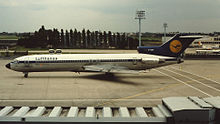 Airplane Picture - Lufthansa Boeing 727 at Paris Orly Airport in 1981
