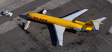 Airplane Picture - A DHL 727-200F freighter at San Diego