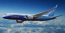 Airplane Picture - An artist's impression of the 787-3, which would have featured a shorter wing with winglets.