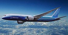 Airplane Picture - Artist's impression of the stretched 787-9, designed with greater range and payload capability
