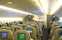 Airplane Picture - Economy class interior of EVA Air 777-300ER in 3-3-3 layout