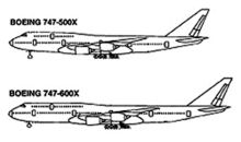 Airplane Picture - The proposed 747-500X and -600X as depicted in an 1998 FAA illustration