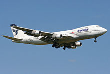Airplane Picture - The sole Iran Air 747-100B in passenger service