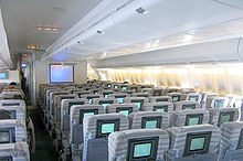 Airplane Picture - 747-400 main deck economy class seating in 3-4-3 layout