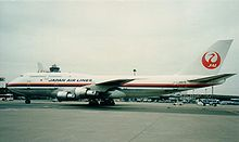 Airplane Picture - One of two 747-100BSR SUD models built for Japan Airlines