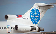 Airplane Picture - Tail section of a Pan Am Boeing 727