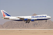 Airplane Picture - Transaero 747-200B on final approach
