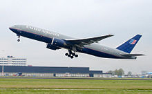 Airplane Picture - The first Boeing 777-200 in commercial service, United Airlines' N777UA