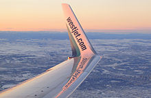 Airplane Picture - A blended winglet of a Next Generation 737
